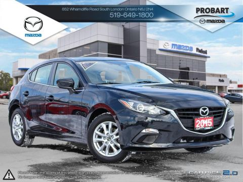 Pre-Owned 2015 Mazda 3 | GS | Cruise | Bluetooth | Heated Seats FWD Hatchback