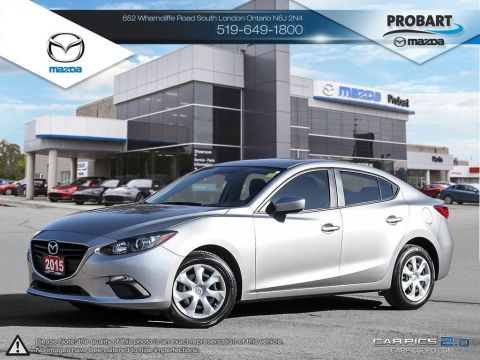 Pre-Owned 2015 Mazda3 | Commuter Special | A/C | iPod Plugin FWD 4dr Car