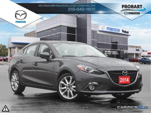 Pre-Owned 2014 Mazda 3 | GT | Tech Package | Blindspot | GPS | Fully Loaded FWD 4dr Car